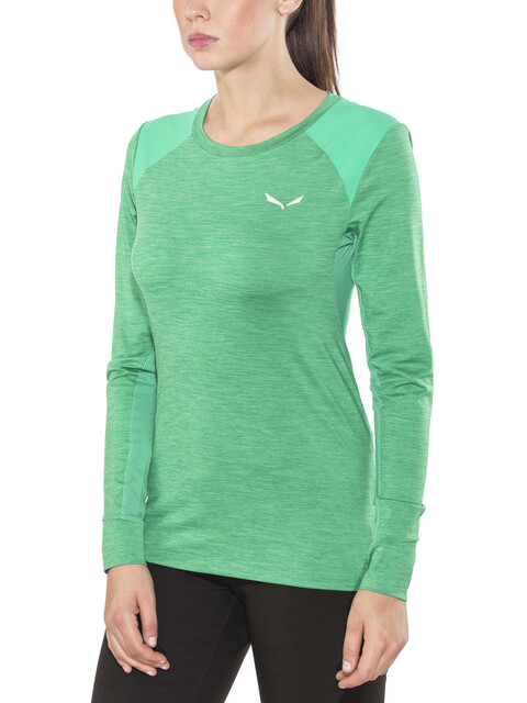 Salewa Pedroc Hybrid L/S Tee Women Peacock Green